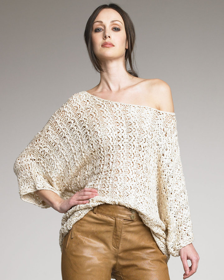 Rachel Zoe Savanna Macrame Sweater