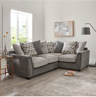 Orson Fabric Right Hand Double Arm Corner Group Scatter Back Sofa