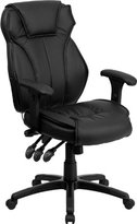 Offex BT-9835H-GG High Back Executive Office Chair with Triple Paddle Control