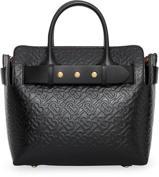 Burberry The Small Monogram Leather Triple Stud Belt Bag