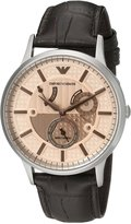 Emporio Armani Men's Meccanico AR4660 Brown Leather Automatic Watch