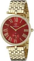 Cabochon Women's 16389-YG-24 Carlita Analog Display Quartz Gold Watch