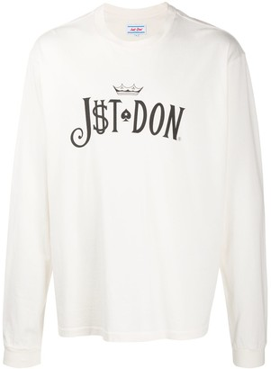 Just Don logo print long-sleeve T-shirt