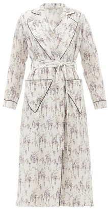 Emilia Wickstead Amana Floral-print Cotton Robe - White Print
