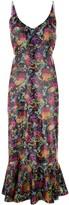 Saloni floral prnted midi dress