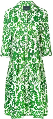 Samantha Sung Printed Flared Summer Dress