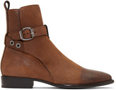 Jimmy Choo Brown Waxed Holden Boots