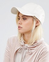 New Era White Pink 9forty Leather Look Cap