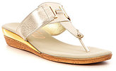 Onex Harriet Rhinestone-Embellished Leather Thong Sandals