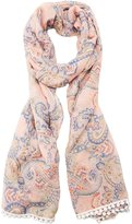Charlotte Russe Paisley Crochet-Trim Woven Scarf