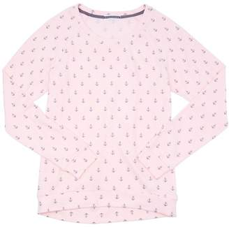 PJ Salvage PEACHY PARTY ANCHORS LONG SLEEVE TEE - DARK PINK - MEDIUM