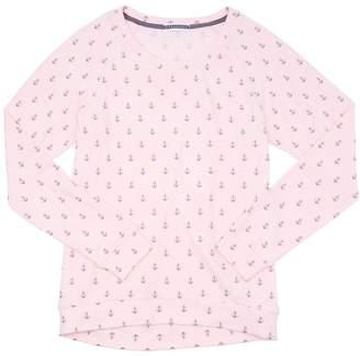 PJ Salvage Peachy Party Anchors Long Sleeve Tee - Dark Pink - Medium