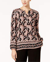Nine West Printed Blouse