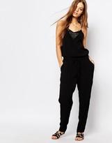 Suncoo Strap Jumpsuit in Black