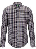 HUGO BOSS C-Buster Regular Fit, Cotton Button Down Shirt L Beige