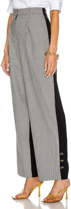 Givenchy Button Bicolor Large Pant in Black & White | FWRD