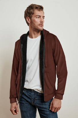Velvet by Graham & Spencer Salvadore Cozy Jersey Sherpa Lined Hoodie