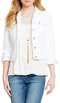 Jessica Simpson Pixie Knit Denim Jacket