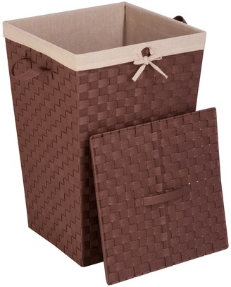 Honey-Can-Do Lined Woven Strap Hamper with Lid