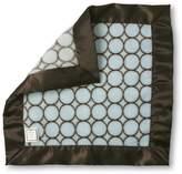 Swaddle Designs Baby Lovie, Security Blankie in Brown Mod Circles, Pastel Blue