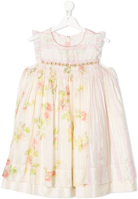 Pero Kids Floral Stripe Dress