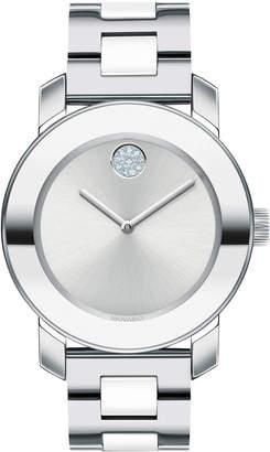 Movado 36mm Bold Iconic Watch w/ Ceramic-Link Bracelet