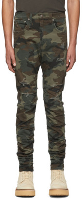 R 13 Multicolor Camo Rips Skywalker Jeans