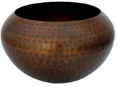 The Foundry Copper Iron Faceted Large Bowl