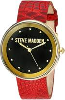 Steve Madden Women's Quartz -Tone Casual Watch, Color:Red (Model: SMW044G-RE)
