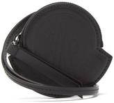 Moncler Debossed-logo Leather Lanyard Pouch - Mens - Black