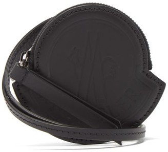 Moncler Debossed-logo Leather Lanyard Pouch - Black