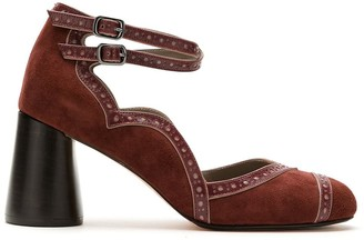 Sarah Chofakian chunky heel Mary Jane pumps
