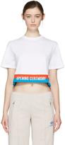 Opening Ceremony White Cropped Elastic Logo T-Shirt