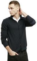 Kenneth Cole Mockneck Zip-Front Jacket
