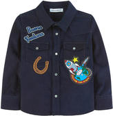 Dolce & Gabbana Velvet shirt with patches Western