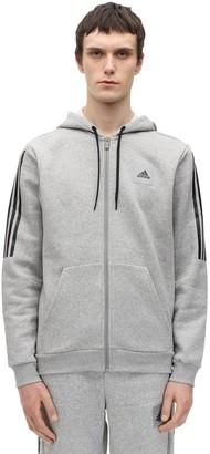 adidas Zip-Up Cotton Blend Sweatshirt Hoodie