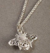 Bumble Bee Lime Lace Silver Bumblebee Necklace