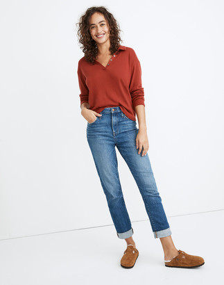 Madewell The High-Rise Slim Boyjean in Moorland Wash