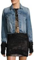 Helmut Lang Tacked Shrunken Denim Cotton Jacket