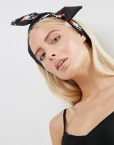 Asos Novelty Lipstick Wire Turban Headband