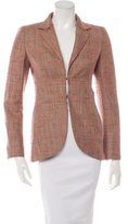 Akris Structured Plaid Blazer