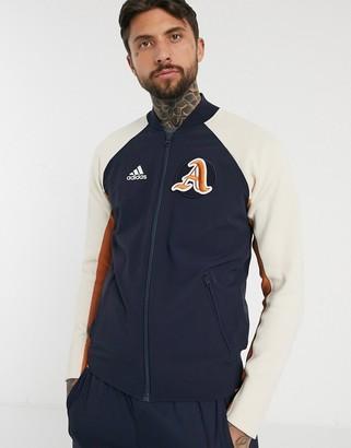adidas varsity pack jacket in navy