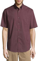 ST. JOHN'S BAY St. John's Bay Short Sleeve Poplin Button-Front Shirt