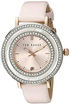 "Ted Baker Women's TE2124 ""Vintage Glam"" Crystal-Accented Stainless Steel Pink Watch"