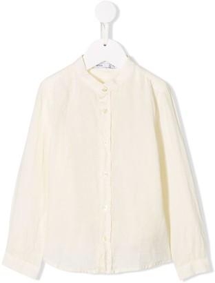 Knot Mandarin collar shirt