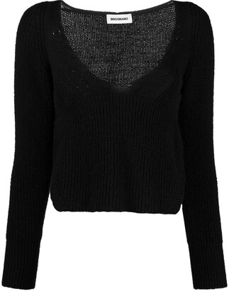 BROGNANO Ribbed-Knit Cropped Jumper