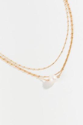francesca's Summer Pearl Multi-Strand Necklace - Gold