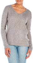 RD Style V-Neck Cable Knit Sweater
