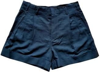 Balenciaga Black Wool Shorts for Women