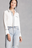 Forever 21 FOREVER 21+ Contrast-Trimmed Collared Shirt